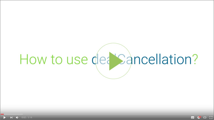 How to Use dealCancellation
